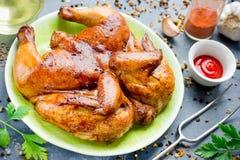 Зажаренный цыпленок с поливой соевого соуса меда Стоковые Изображения RF