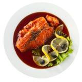 Зажаренный salmon стейк Стоковые Изображения RF