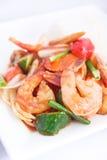 Зажаренный Stir соус sweet&sour с рисом жасмина. стоковое изображение rf