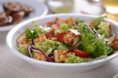 зажаренный tofu салата стоковые изображения rf