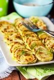 зажаренный zucchini ломтиков Стоковое Изображение
