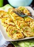 зажаренный zucchini ломтиков Стоковые Изображения RF