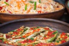 зажаренный zucchini соуса Стоковые Изображения RF