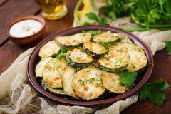 зажаренный zucchini соуса Стоковая Фотография
