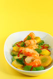 зажаренный zucchini шримсов Стоковая Фотография RF