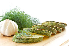 зажаренный zucchini Стоковое фото RF