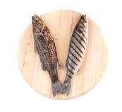2 зажаренных рыбы морского волка на диске Стоковые Изображения