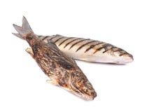 2 зажаренных рыбы морского волка Стоковые Фотографии RF