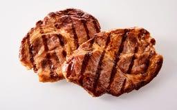 2 зажаренных marinated стейка шеи говядины Стоковое Изображение