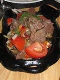 зажарьте в духовке овощи Стоковые Изображения RF