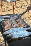 Зажарьте морепродукты Стоковое Фото