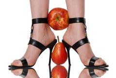 зажатый плодоовощ ног стоковая фотография rf