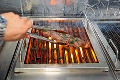 зажгите мясо стоковые фотографии rf