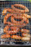 Зажженная сосиска Стоковое Изображение RF
