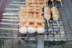 Зажженная сосиска Стоковое Фото