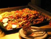 зажженная тарелка цыпленка Стоковое Изображение RF