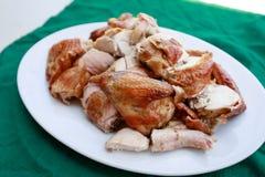 зажженная тарелка цыпленка Стоковое Изображение