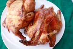 зажженная тарелка цыпленка Стоковые Изображения RF
