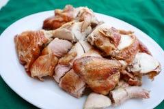 зажженная тарелка цыпленка Стоковые Изображения