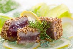 зажженная туна сезама семени Стоковые Фотографии RF