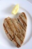 зажженная туна стейка Стоковое Изображение RF