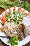 Зажженное мясо поросенка и овечки Стоковые Фото