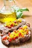 Зажженное мясо стейка Стоковые Изображения RF