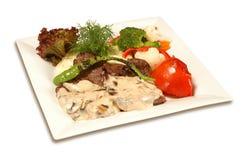 Зажженное мясо с соусом Стоковое Фото