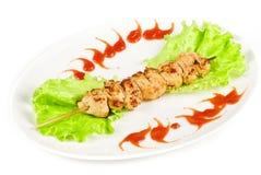 Зажженное мясо цыпленка Стоковые Фото