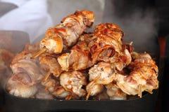 Зажженное мясо цыпленка Стоковое Изображение RF