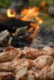 зажженное мясо Стоковая Фотография RF