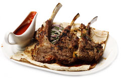 зажженное мясо Стоковые Фотографии RF