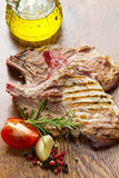 Зажженное мясо Стоковая Фотография