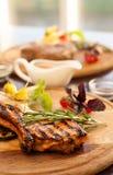 Зажженное мясо Стоковое Фото