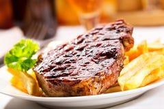 Зажженное мясо Стоковые Фото