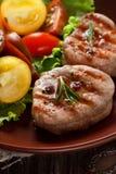 Зажженное мясо. Стоковые Изображения