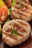 Зажженное мясо. Стоковое Фото