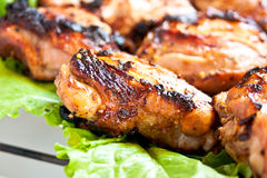 Зажженное мясо Стоковые Изображения RF