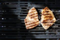 зажженное мясо Стоковые Изображения
