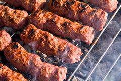 зажженное мясо kebab стоковые фотографии rf