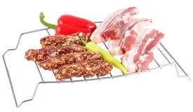Зажженное мясо mici Стоковое Изображение