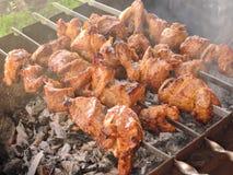 Зажженное kebab мяса Стоковое фото RF