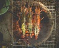 зажженные креветки Стоковые Фото