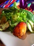 зажженные мексиканские овощи салата Стоковые Изображения RF