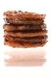 зажженные монетки цыпленка барбекю изолированными стоковые изображения rf