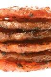 зажженные монетки цыпленка барбекю изолированными стоковое изображение