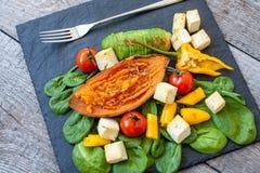 зажженные овощи салата Стоковое Фото