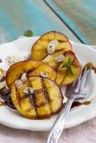 зажженные персики стоковое фото