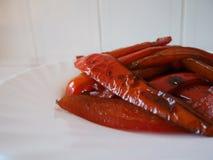 зажженные перцы Стоковое Изображение