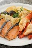 Зажженные продукты моря Стоковое Фото